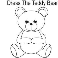 Dress The Teddy Bear Coloring Pages