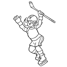 Coloring Pages for Girl Hockey Player