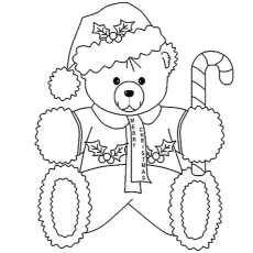 Greeting Card of Teddy Bear Printable to Color
