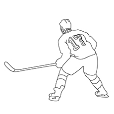 The Intense Hockey Player Coloring Pages