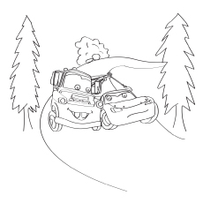 Lightning McQueen With Mater Coloring Sheet
