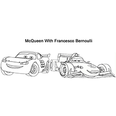 Coloring Pages of McQueen With Francesco Bernoulli
