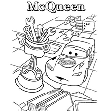 Surprised Lightning McQueen Coloring Pages to Print