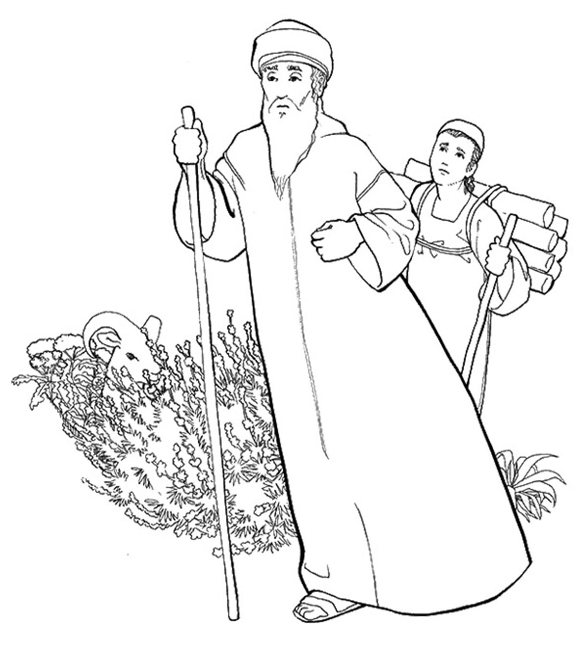 Lovable Abraham And Sarah Coloring Pages 24 | Abraham and sarah ... | 1350x1200