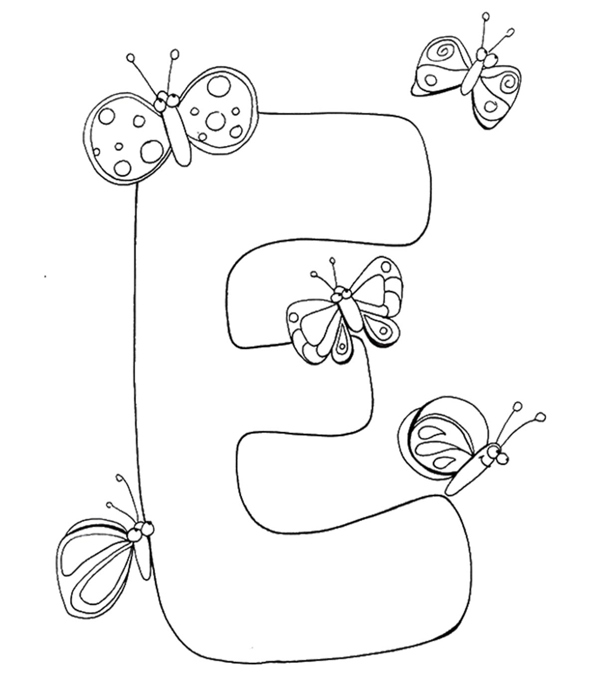 My A to Z Coloring Book Letter F coloring page | Alphabet coloring ... | 1350x1200
