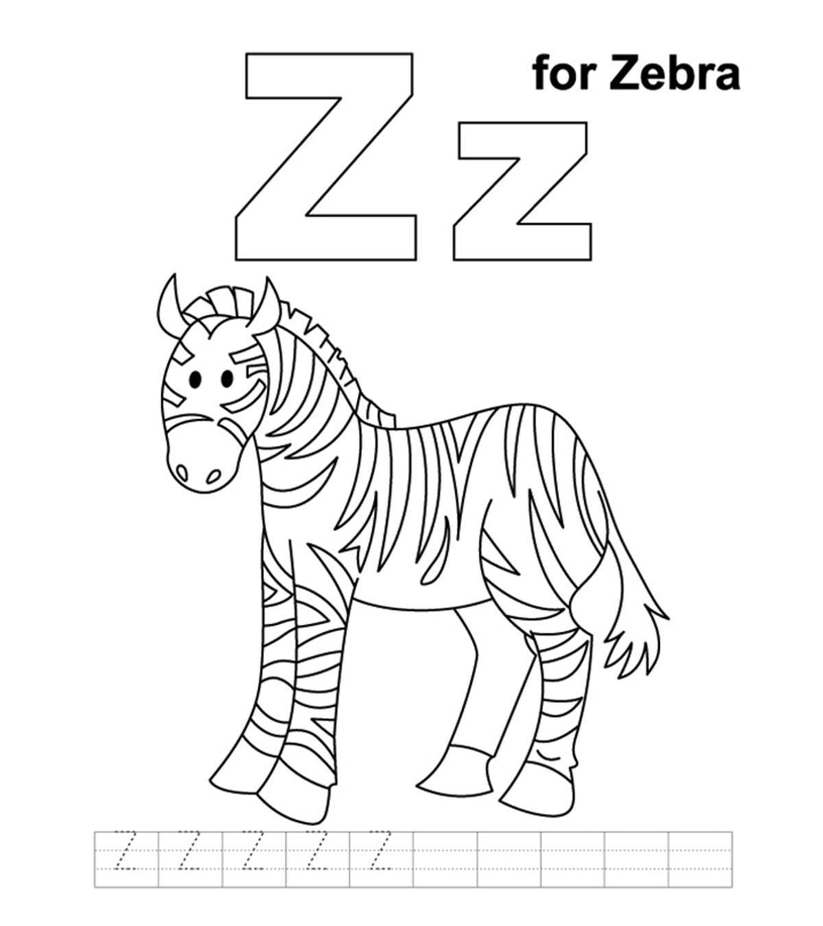Letter Z Pictures.Top 10 Free Printable Letter Z Coloring Pages Online