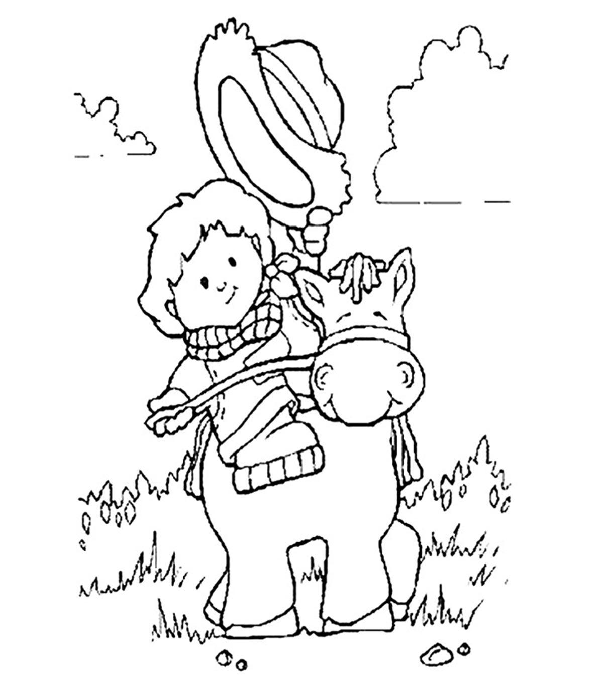 Best Coloring Pages Site: Simple Cowboy Coloring Pages ...