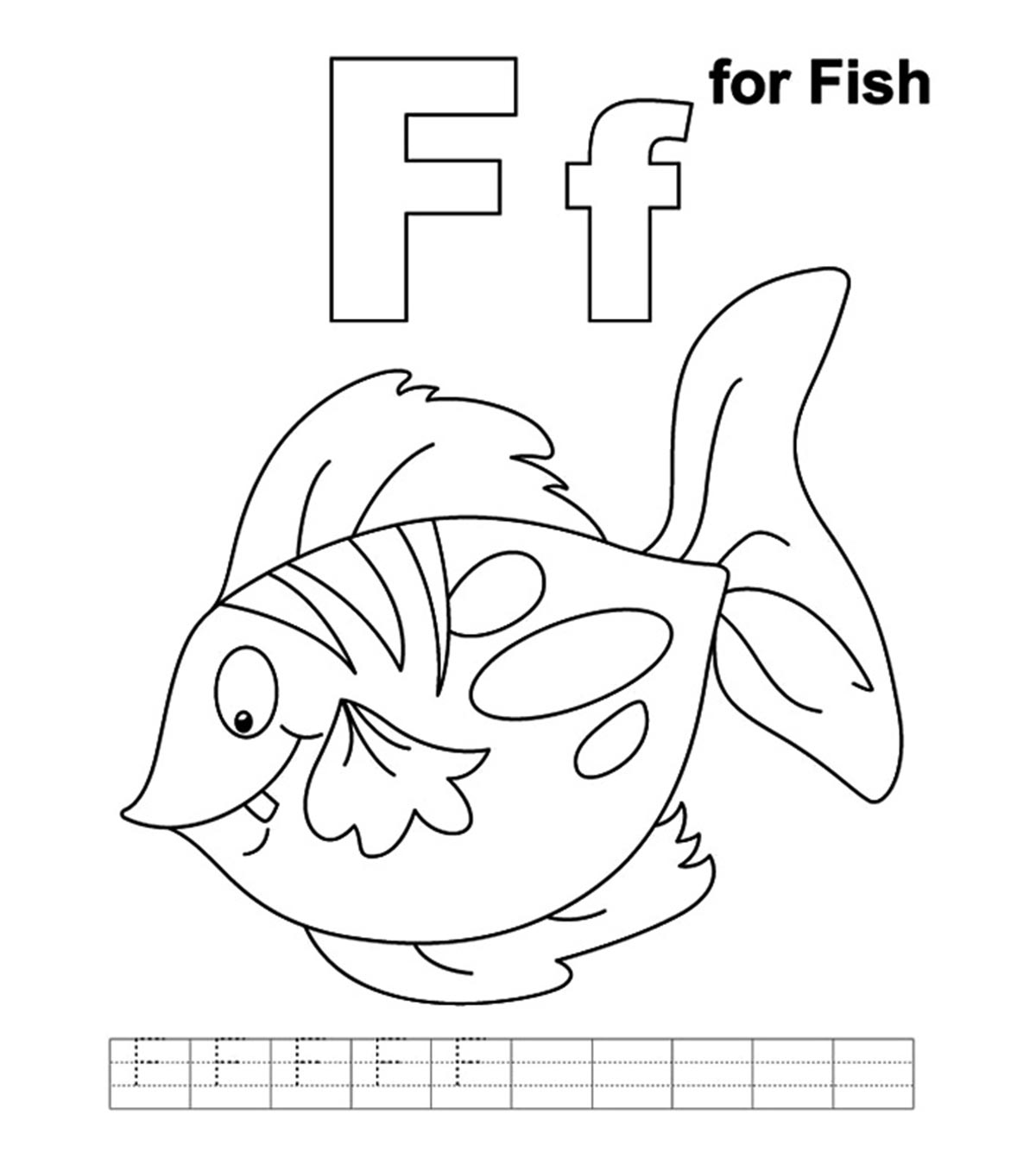 Clown Fish Coloring Page Free Printable Pages For Kids - Fish ... | 1350x1200