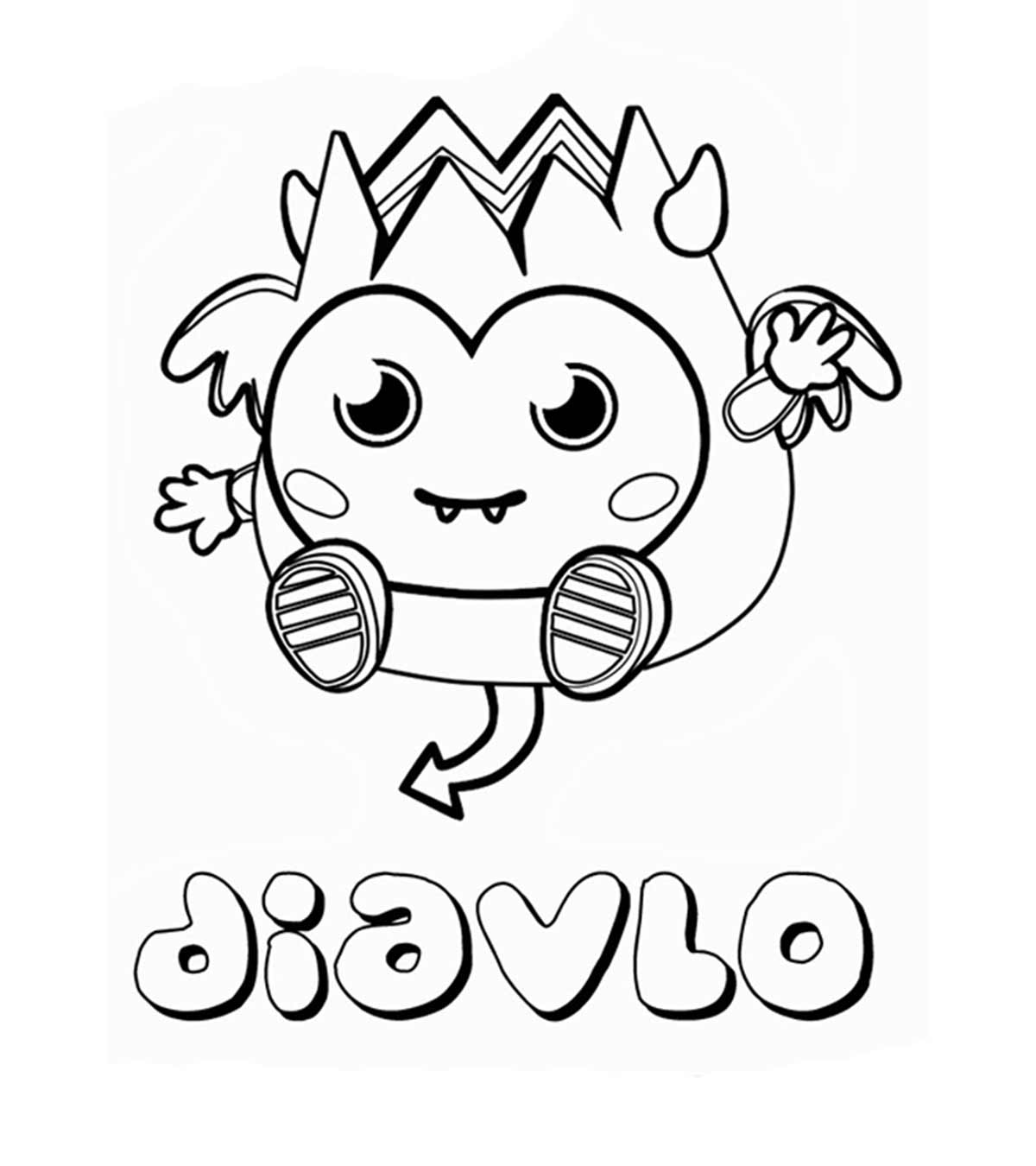 Moshi Monsters Jeepers coloring page | Free Printable Coloring Pages | 1350x1200