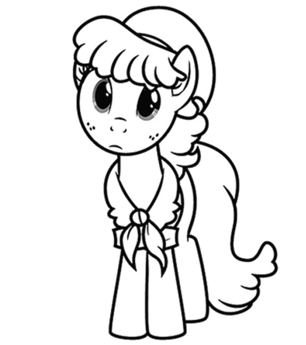 5100 A4 Colouring Pages My Little Pony For Free