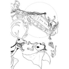 nightmare before christmas coloring pages jack