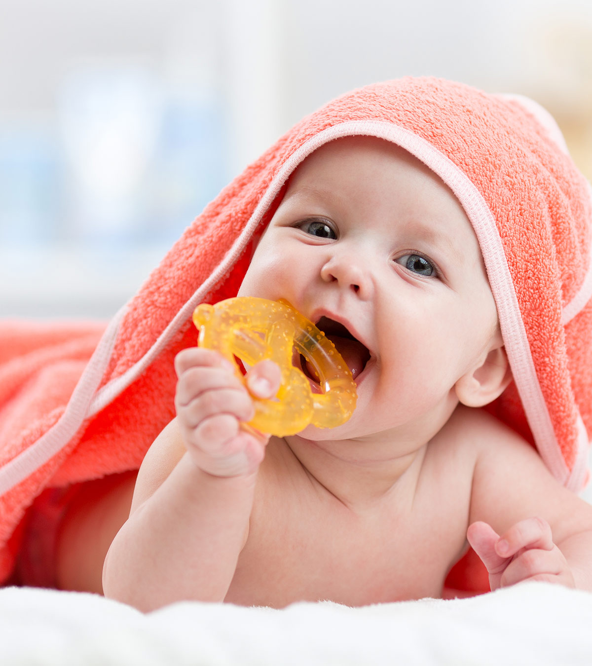 New Infantino Good Bites Textured Carrot Teether
