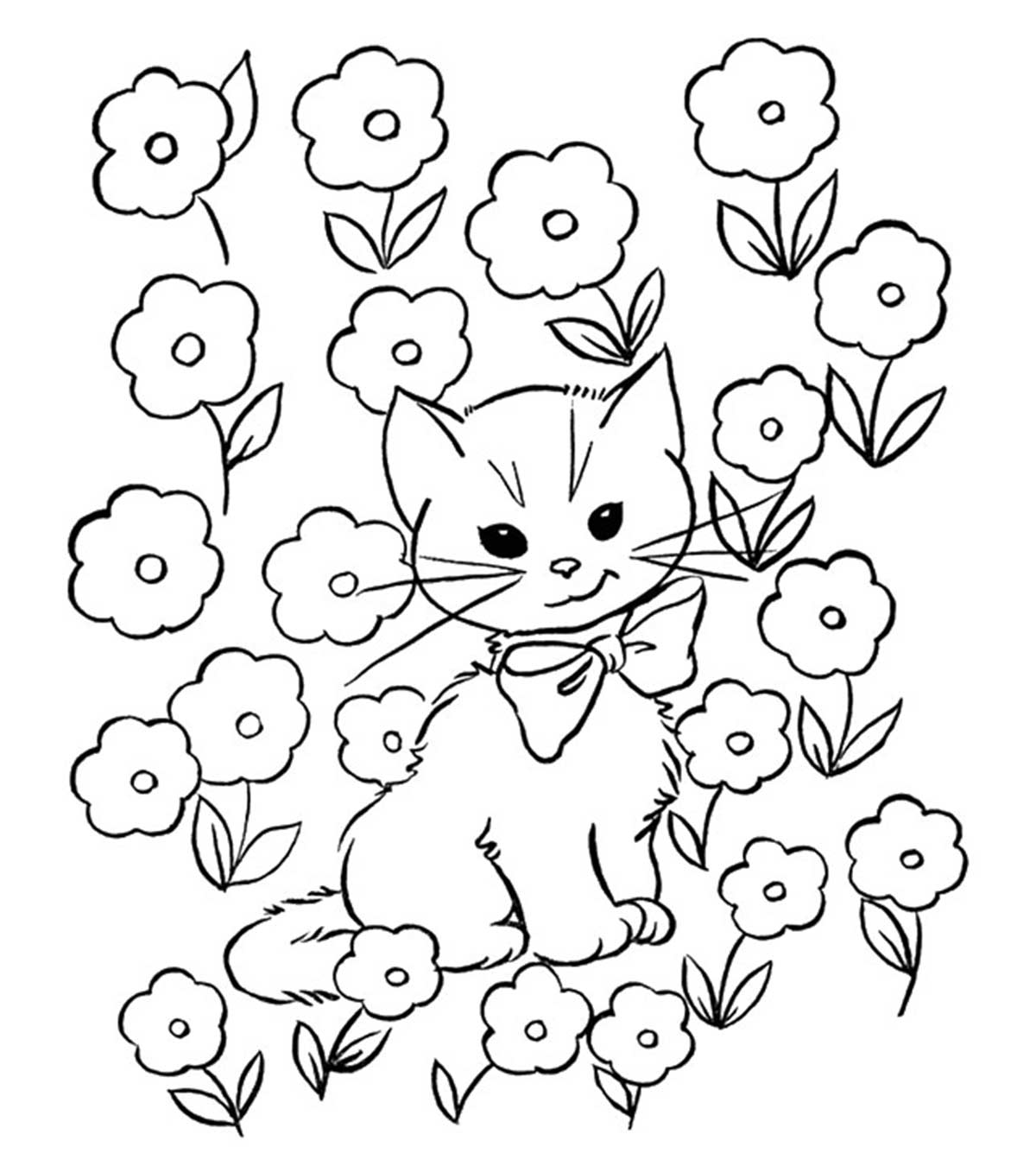image about Cat Printable identified as Final 30 Cost-free Printable Cat Coloring Internet pages For Little ones