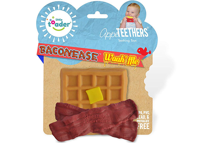 Little Toader - Bacon and Waffle Baby Teether Toy