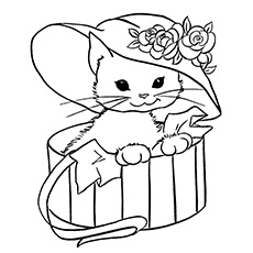 Coloring Pages of Pretty Miss Kitty