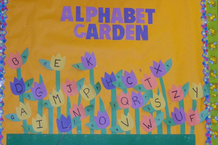 Alphabet Flower Garden