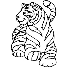 Amur Tiger Printable Coloring Pages