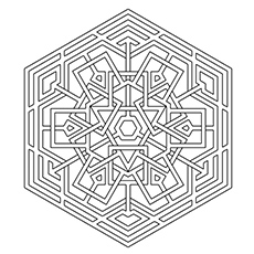 Coloring Page of Celtic Snowflake to Print