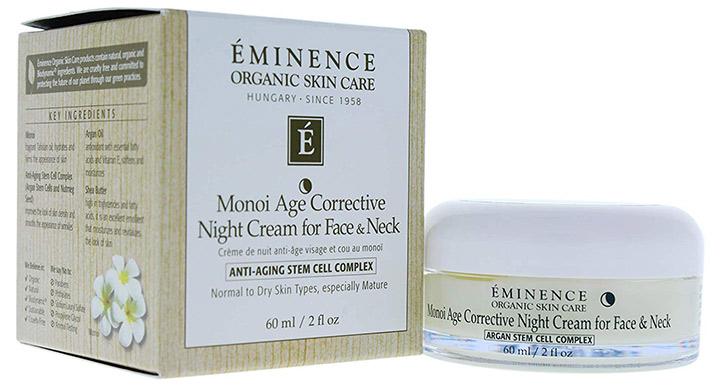 Eminence Organics Monoi Age Corrective Night Cream for Face & Neck