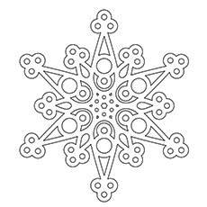Coloring Page of Snowflake Radiating Dendrites