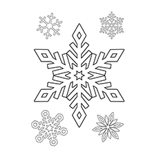 Beautiful Snowflakes Printable to color