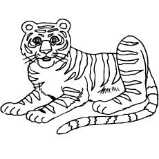 Coloring Sheet of South China Tiger