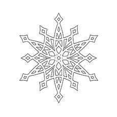 Stellar Snowflake Coloring Sheet to Print