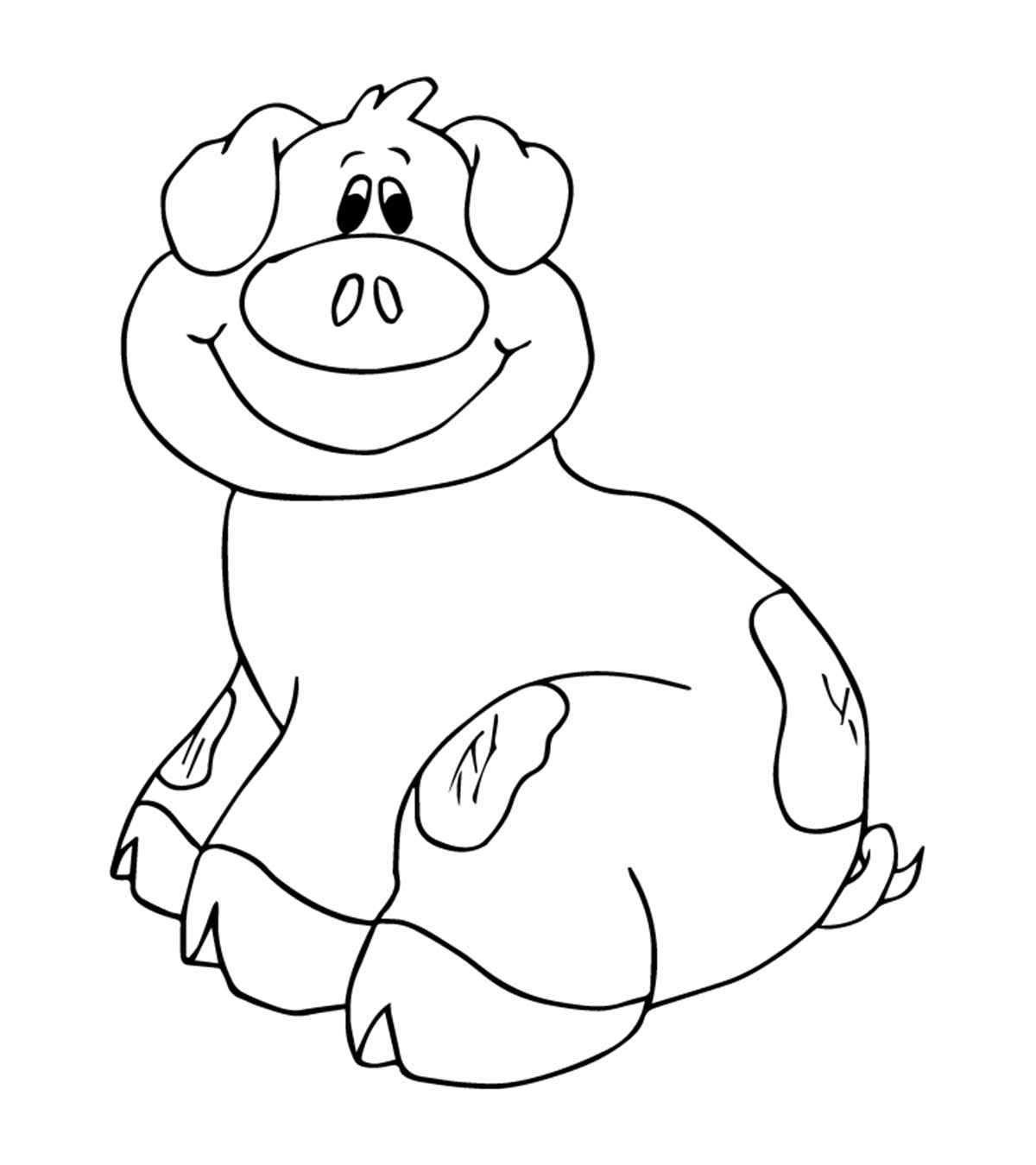Top 20 Free Printable Pig Coloring Pages Online | 1350x1200