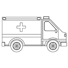 Truck Ambulance Coloring Pages