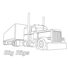 Big Rig Trucks Colouring Pages