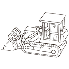 Bulldozer Truck Coloring Page
