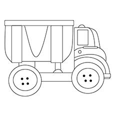 Chuck Truck Coloring Sheet