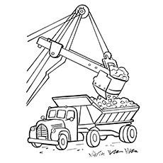 Crane Truck Coloring Page to Print