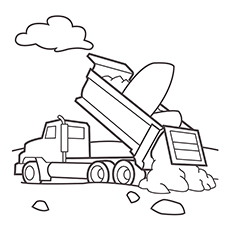 Free Printable Dump Truck Coloring Pages