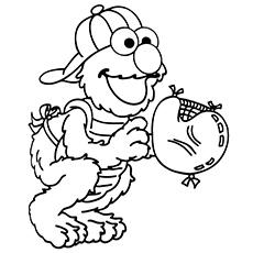 Elmo-Playing-Baseball