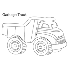 Garbage Collecting Truck Coloring Page to Print