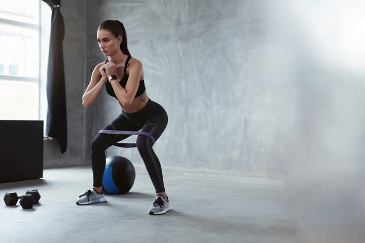 Mini kegel squats
