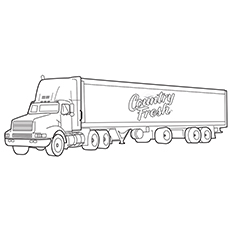 Pizza Planet Truck Colouring Sheet