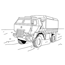 Racing Truck Coloring Pages