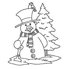 Snowman-And-Christmas-Tree