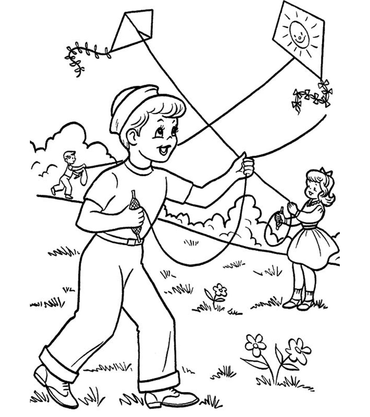 Summer coloring pages to download and print for free | Summer ... | 1350x1200