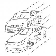 Two Cars Racing