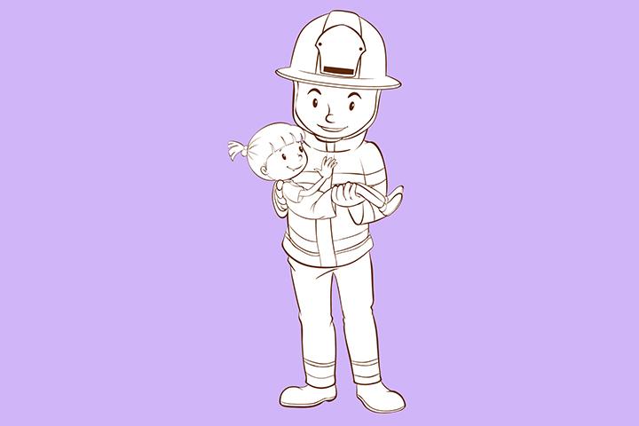 Fireman Saving Child
