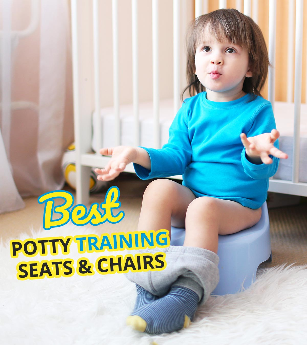 BLUE EASY CLEAN KIDS TODDLER POTTY TRAINING CHAIR SEAT REMOVABLE POTTY WITH LID