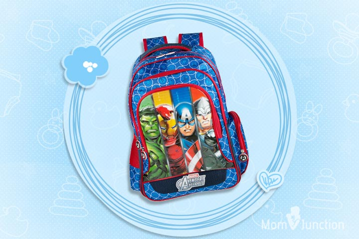 Avengers Group Art Faces Blue Bag