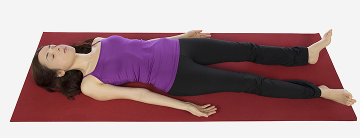 Back lying pose corpse pose