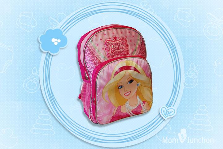 Barbie Printed Backpack In Pink