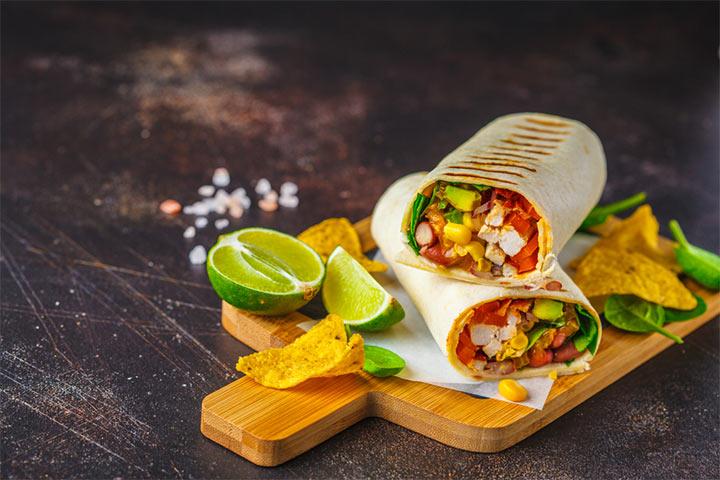 Burrito in breakfast