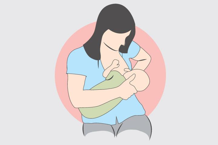 Cross Cradle Hold for Breastfeeding