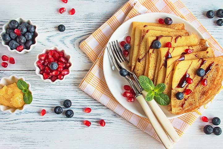 Fruity crepes
